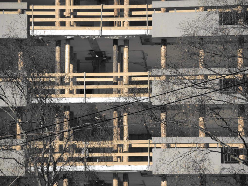 Entwurf Frühjahrssemester 2014 - Holz-Beton-Stadt-Dorf - Titelbild